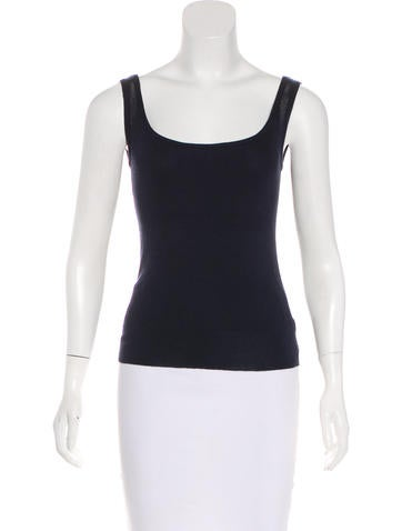 Céline Rib Knit Sleeveless Top None