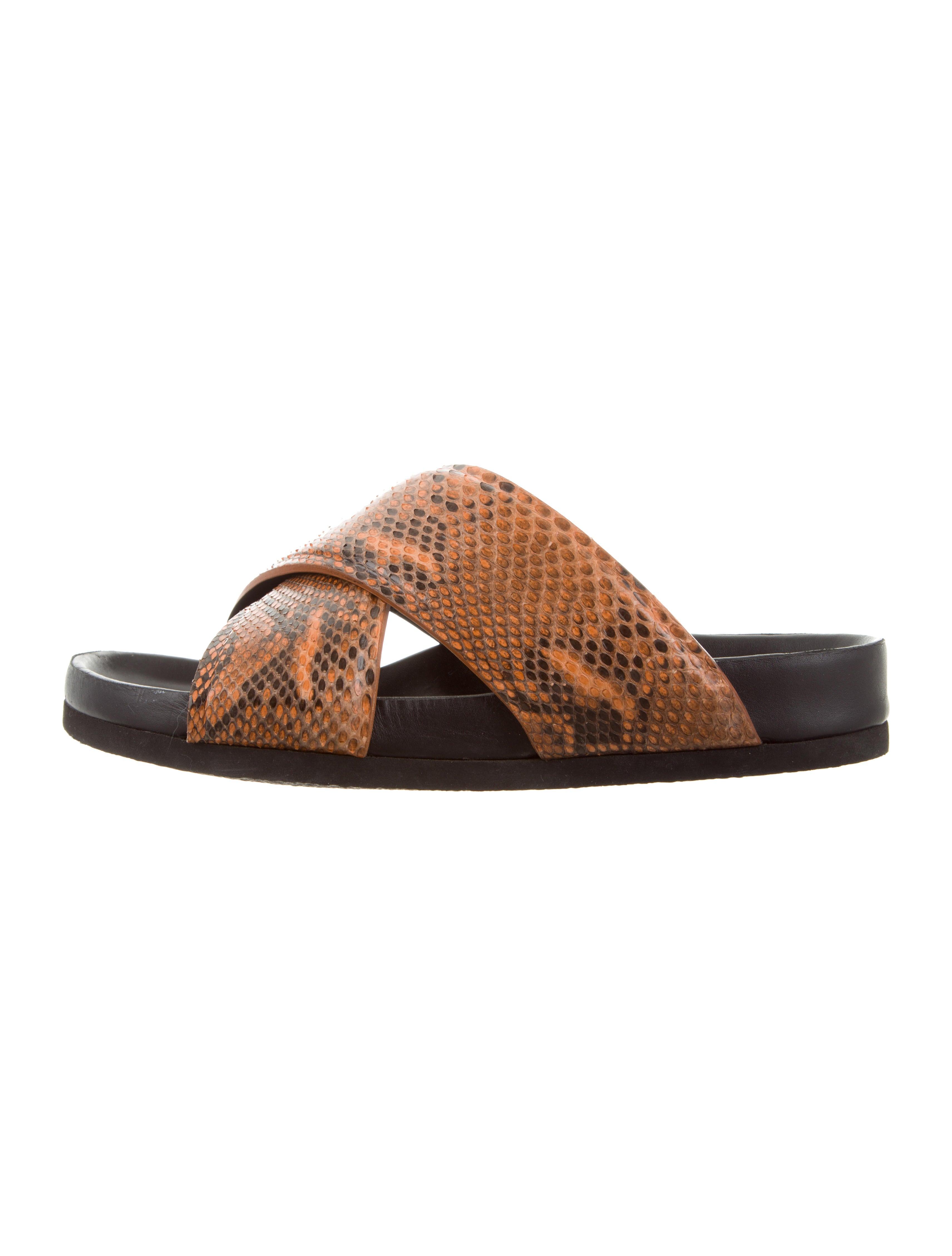 Céline Snakeskin Crossover Sandals ebay cheap price cheap sale limited edition 6CaTy4U