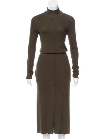 Céline Wool-Blend Maxi Dress None