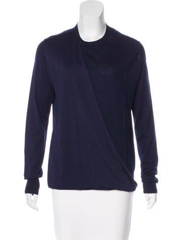 Céline Wool & Silk Knit Sweater None