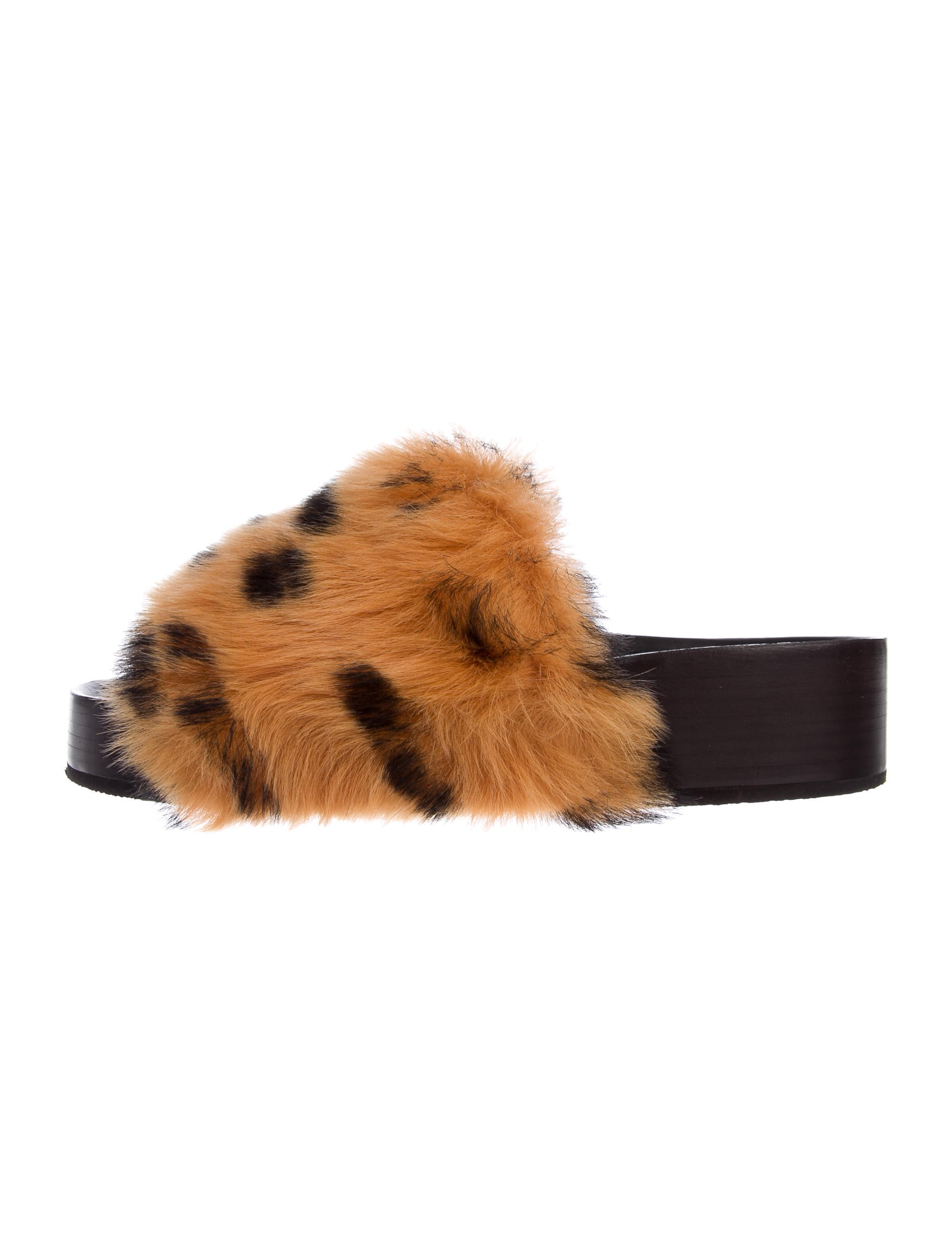 free shipping real Céline 2017 Shearling Slide Sandals w/ Tags free shipping official site cheap sale popular Vduz2Jg