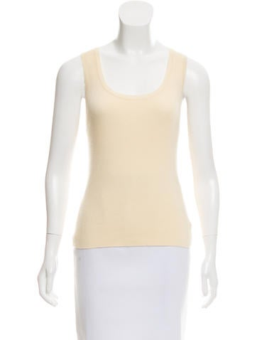 Céline Sleeveless Cashmere Top None