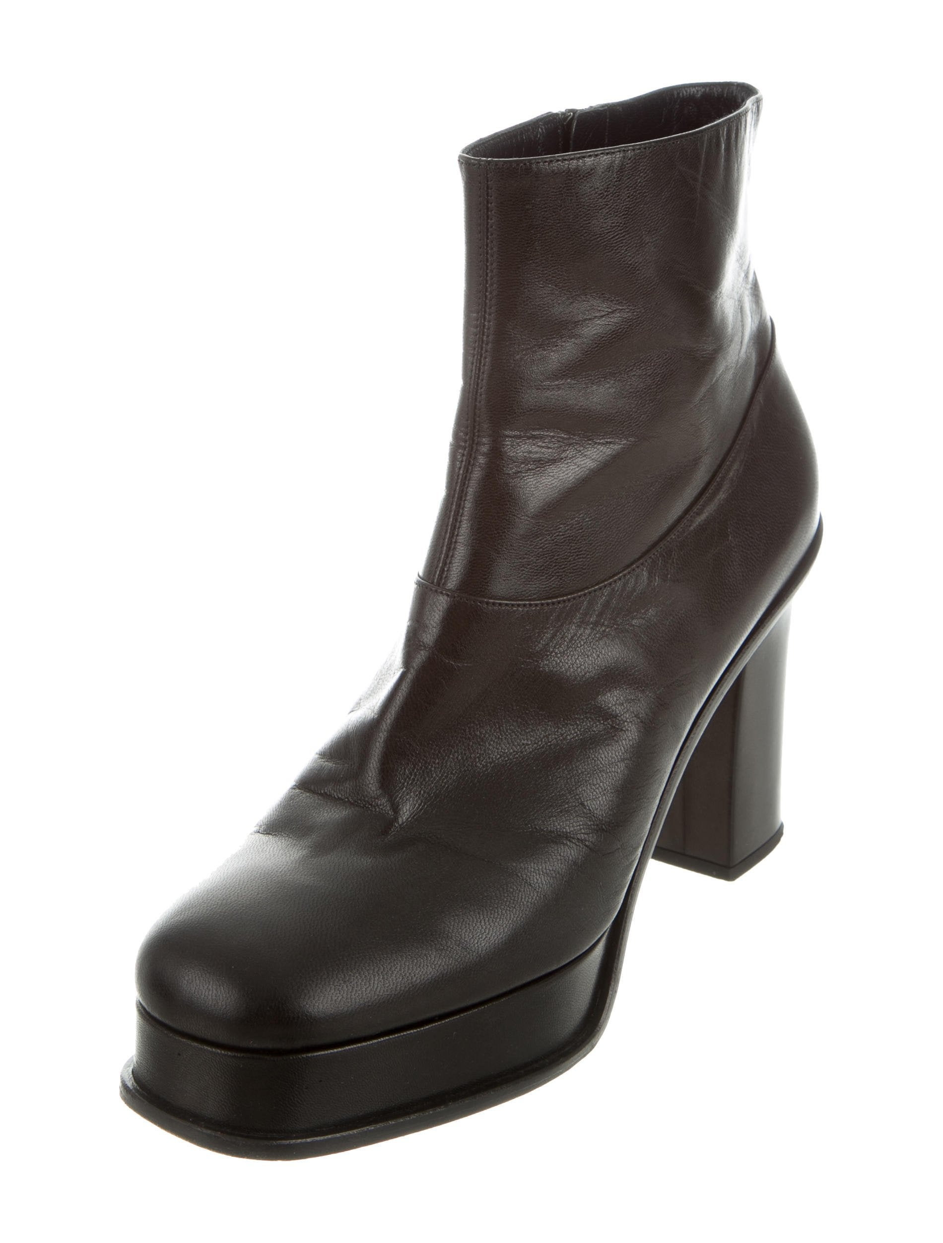 looking for cheap online outlet in China Céline Leather Platform Boots 52r3gZohlO