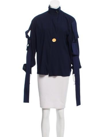Céline Button-Up Silk Top None