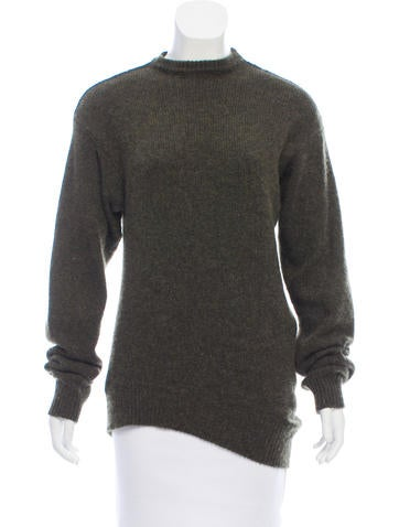 Céline Asymmetrical Cashmere Sweater None