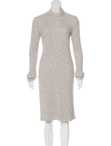 Céline Rib Knit Sweater Dress None
