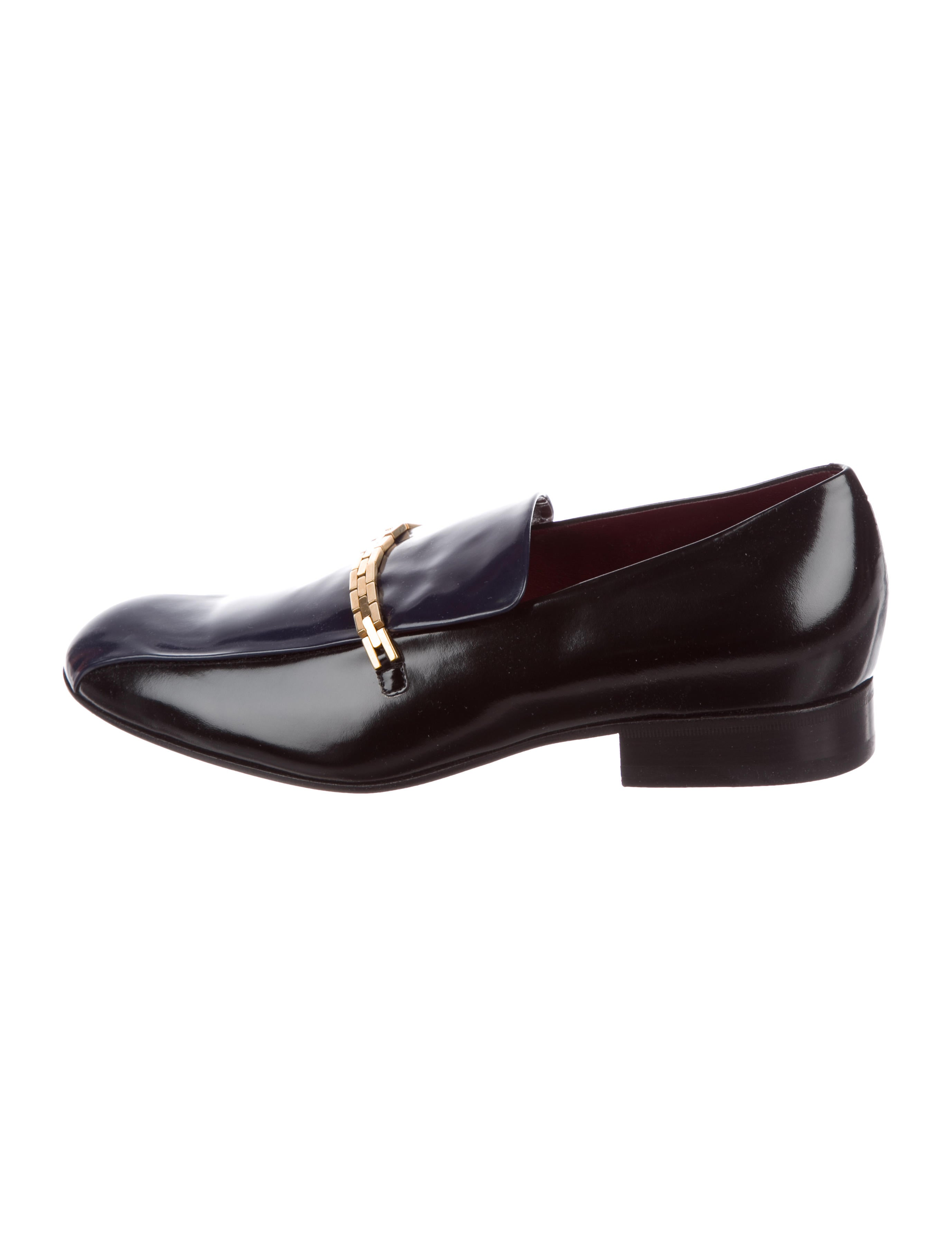 discount wide range of best wholesale cheap online Céline Leather Embellished Loafers pAYQlVVe