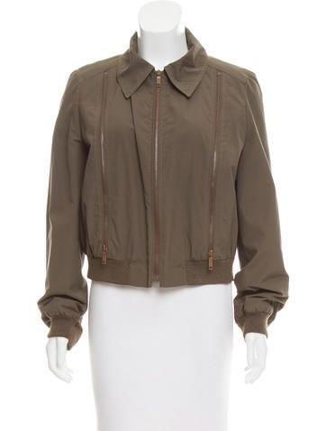 Céline Zipper-Accented Long Sleeve Jacket None