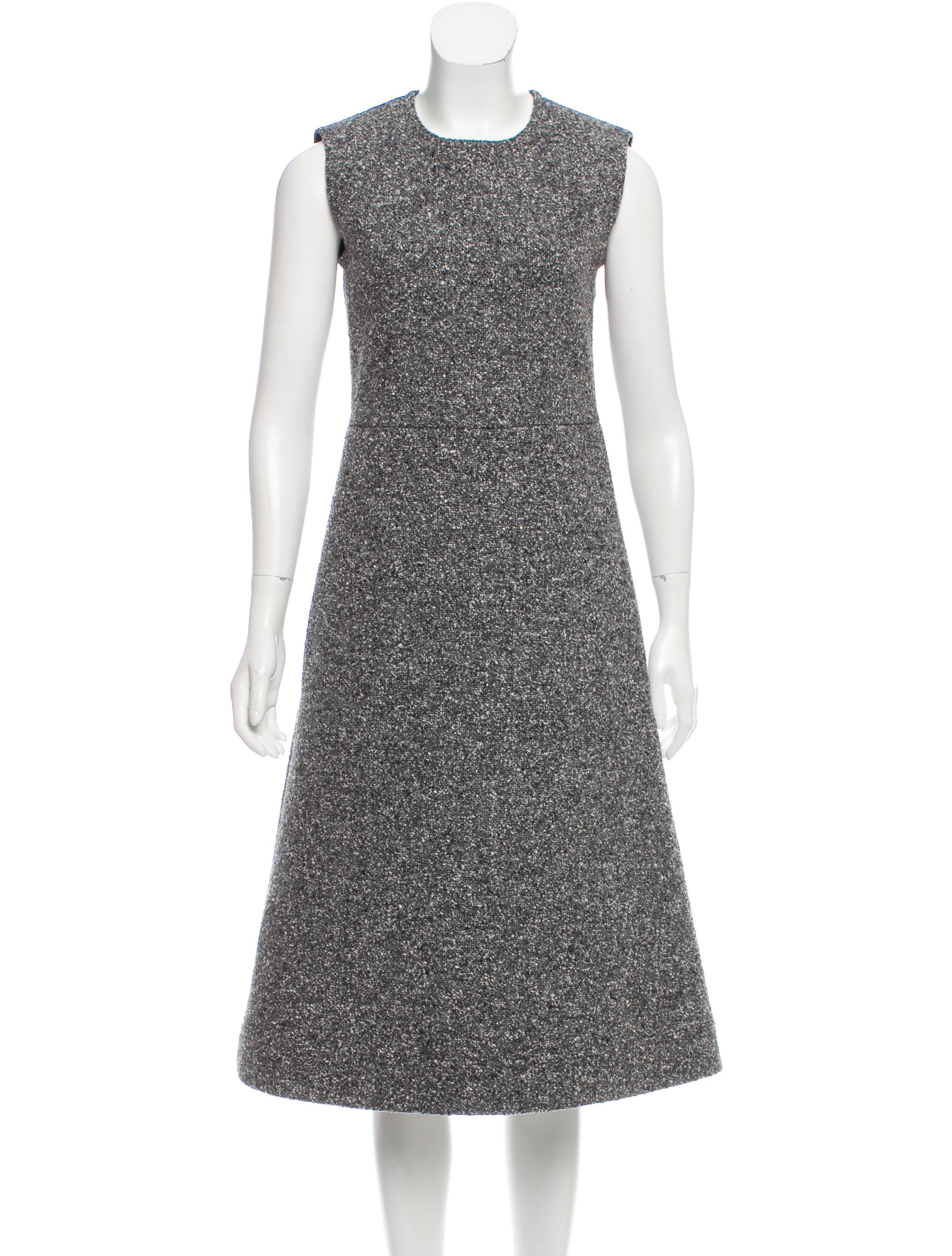 b197538953f2 Céline Sleeveless Bouclé Dress - Clothing - CEL62397