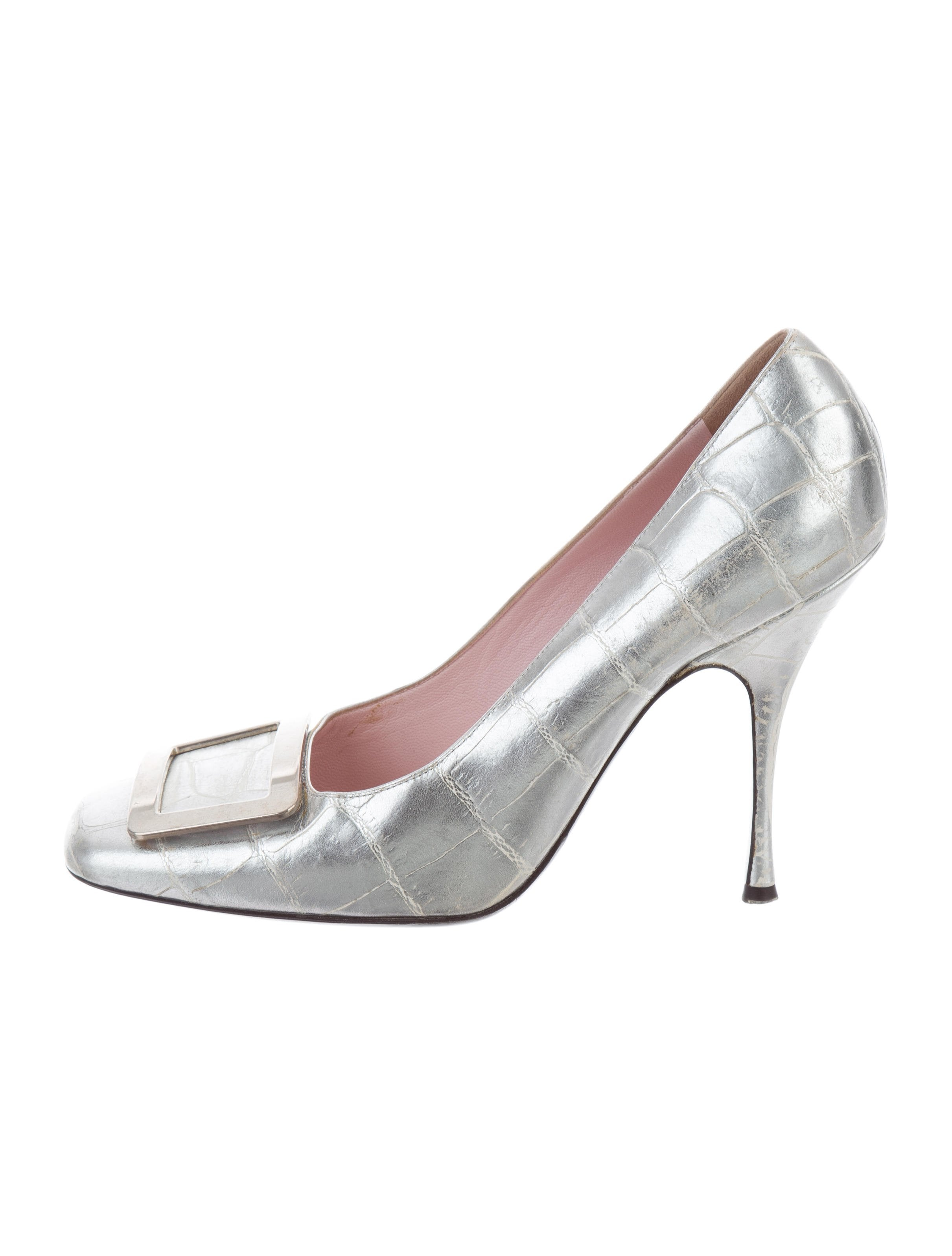 Céline Metallic Leather Heels qykPrSrEht
