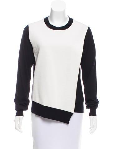 Céline Draped Wool Sweater None