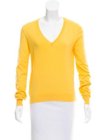 Céline Cashmere V-Neck Sweater None