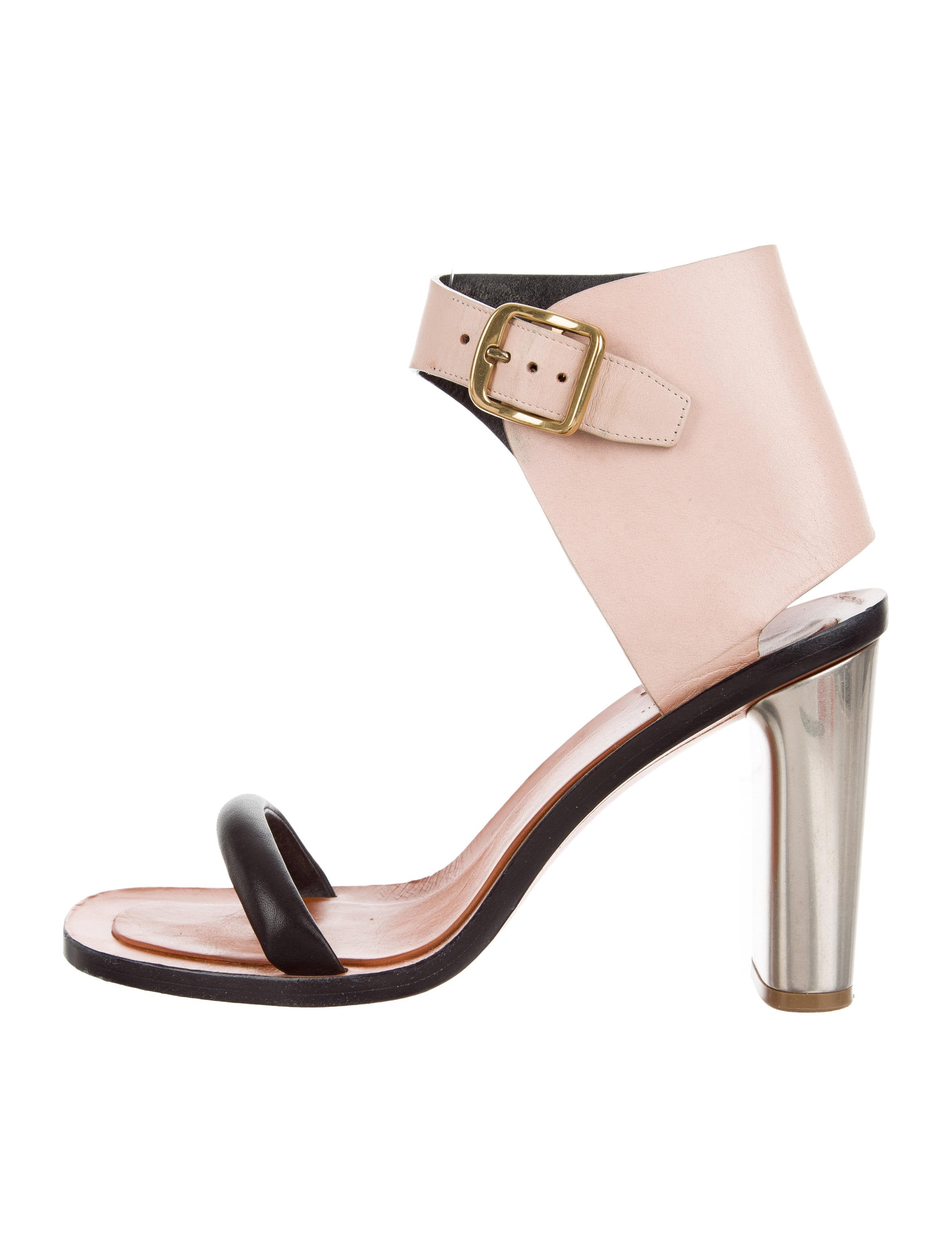 cheap sale high quality Céline Leather Colorblock Sandals free shipping browse clearance 2015 newest online 6D5oE