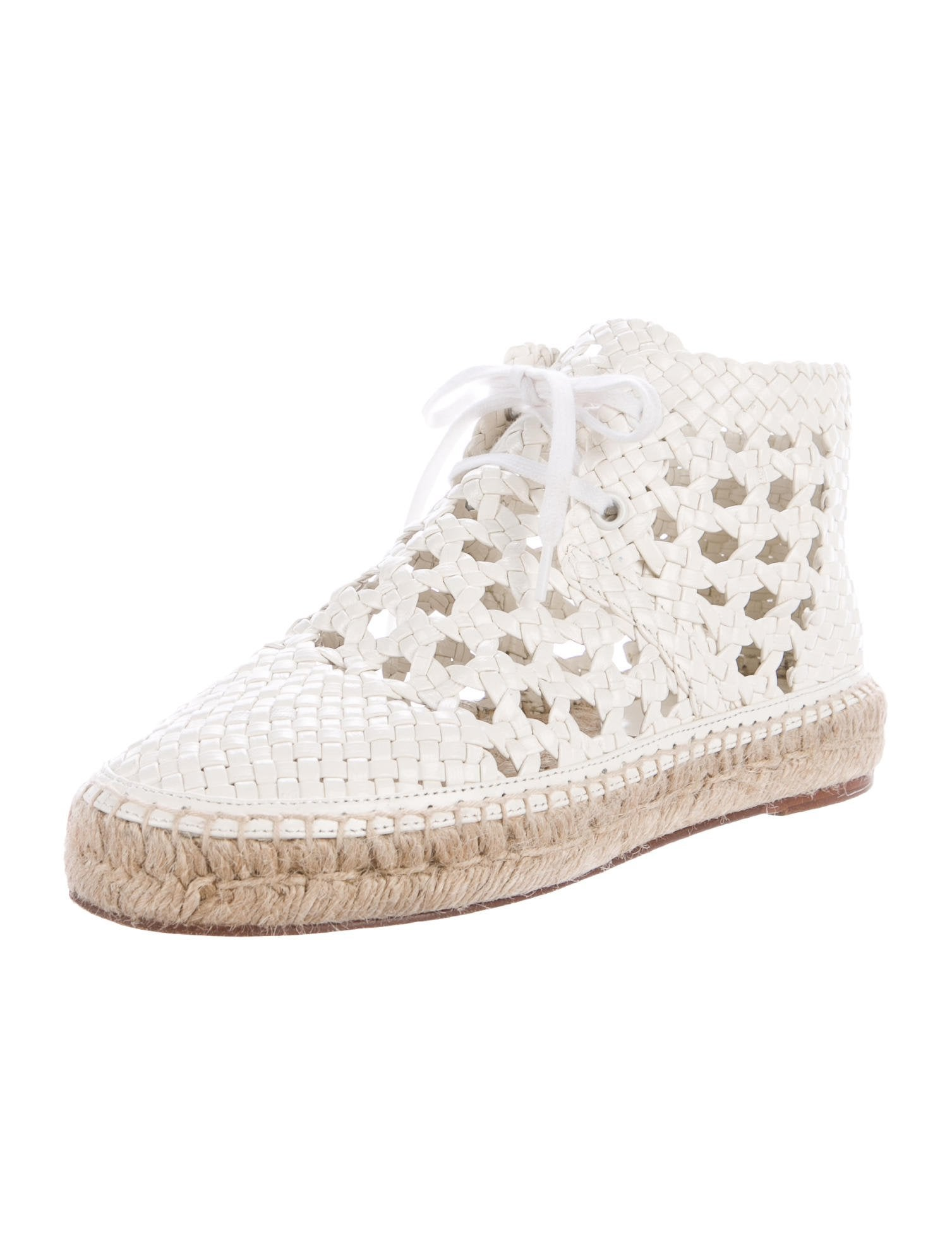 discount best wholesale free shipping low price Céline Woven Lace-Up Espadrilles discount big discount get to buy online NRaTp4