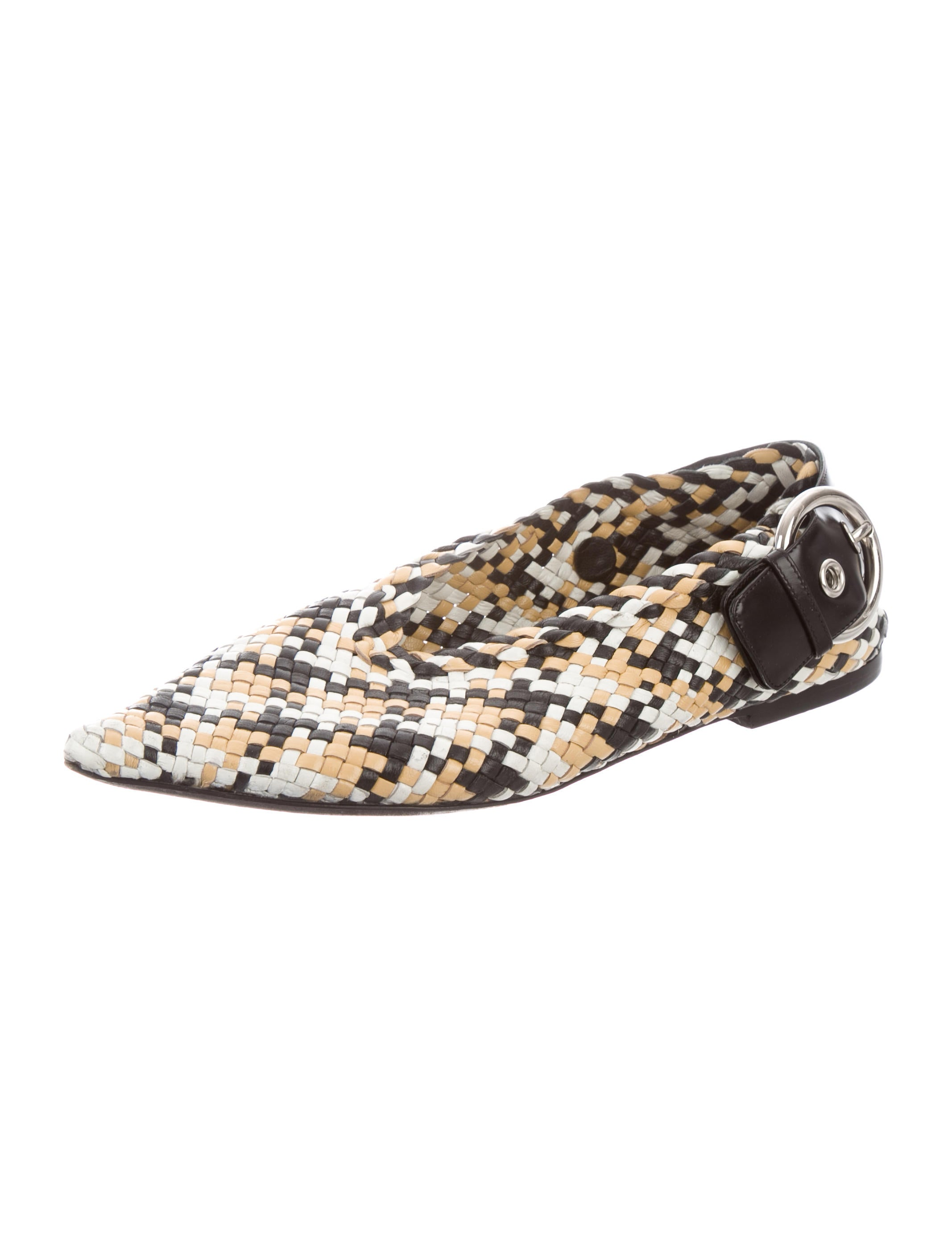 Céline Woven Buckle-Accented Flats shopping online sale online outlet in China discount visit brand new unisex cheap online ociwKTeaX