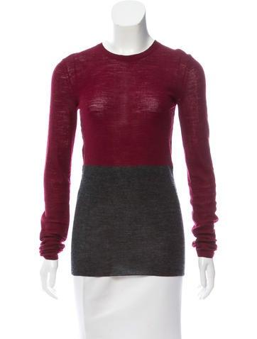 Céline Colorblock Knit Sweater None