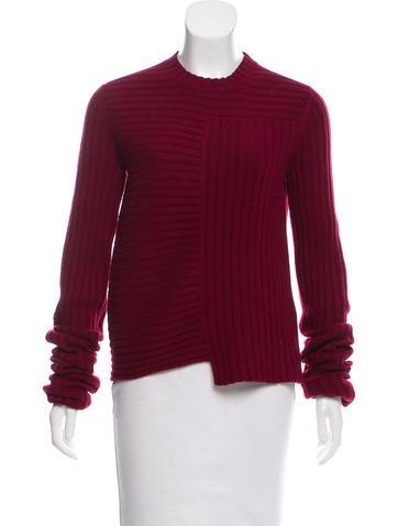 Céline Wool-Cashmere Rib Knit Sweater w/ Tags None