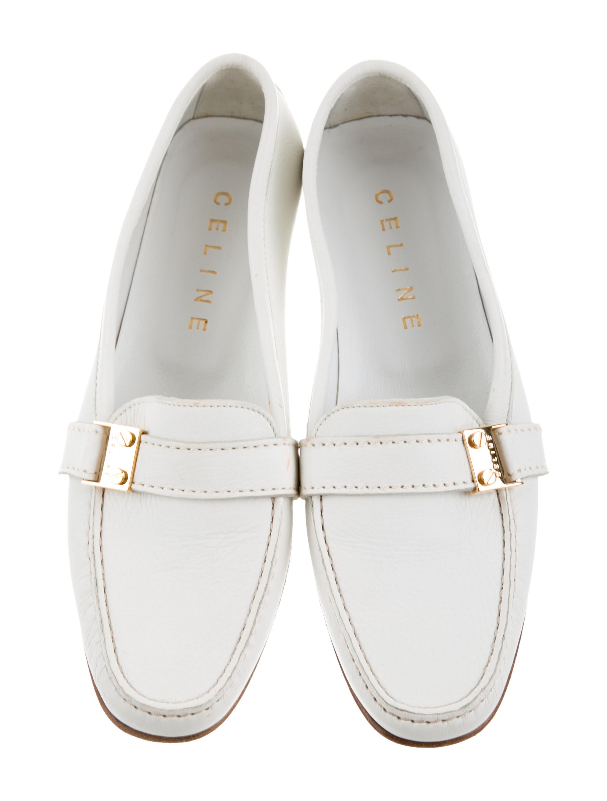 Céline Buckle-Accented Square Toe Loafers supply for sale wholesale price online huge surprise sale online visit sale online looking for cheap online 9K0Ivhw