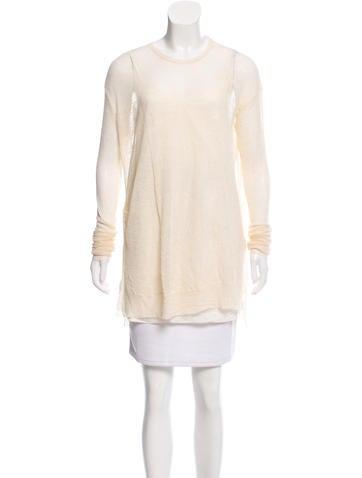 Céline Semi-Sheer Knit Sweater None