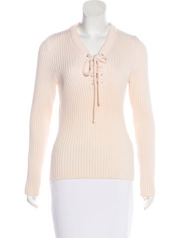 Céline Long Sleeve Wool Sweater None