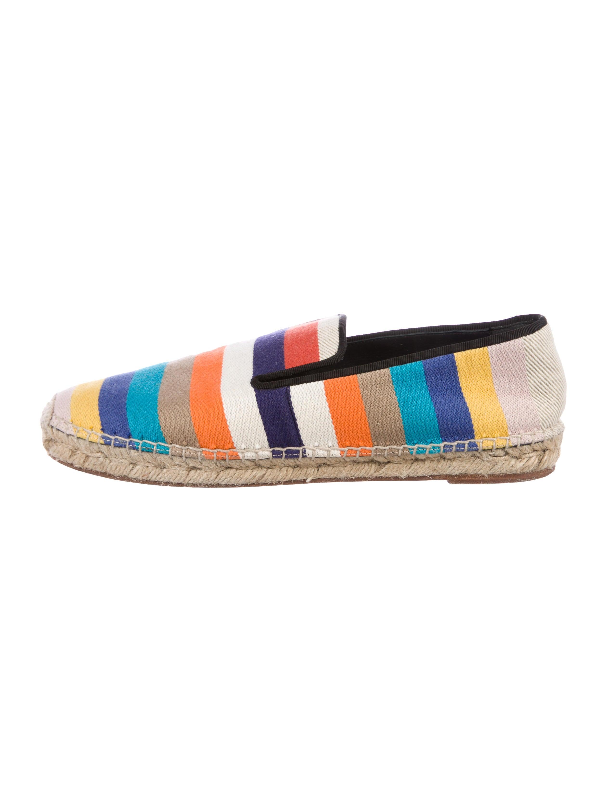 Céline Striped Espadrille Loafers outlet shop outlet big discount l2iQY6n