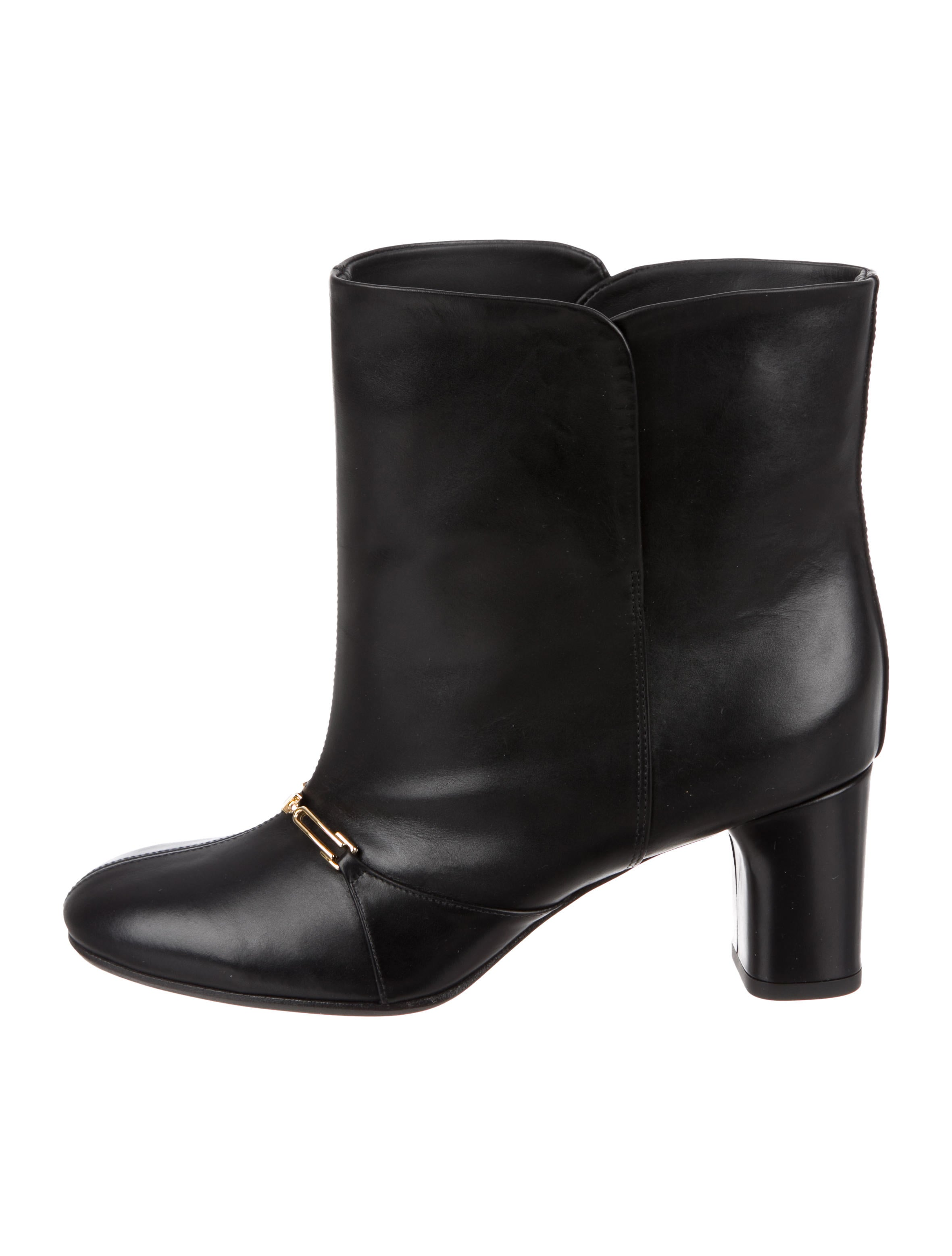 Céline Leather Chain-Link Ankle Boots w/ Tags
