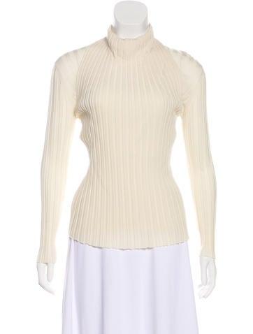 Céline Wool Rib Knit Top None