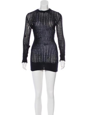Céline Open Knit Sweater Dress None