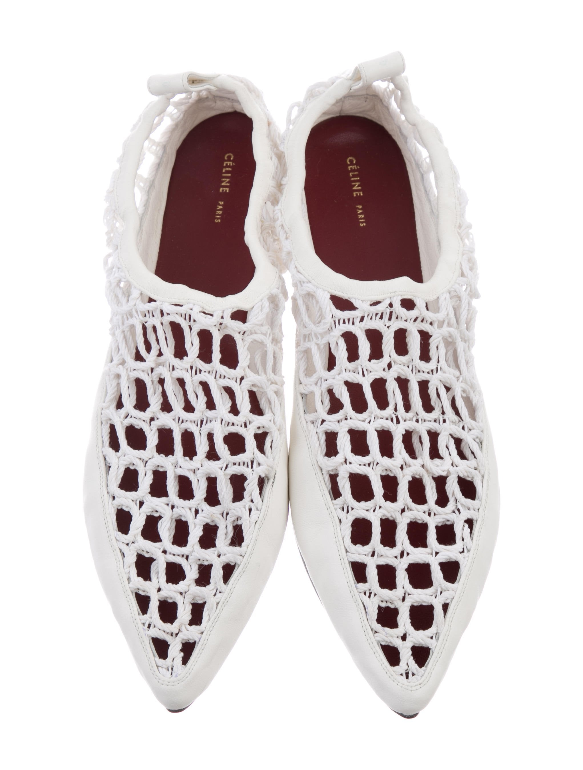 Céline Crochet Pointed-Toe Flats clearance websites real online clearance supply many kinds of online ehz9kX