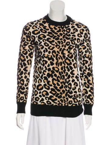 Céline Intarsia Knit Sweater None
