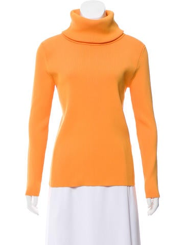 Céline Rib Knit Turtleneck Sweater None