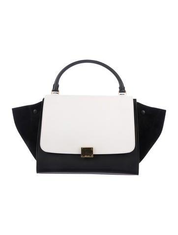 5f97cfae216e Céline Double Zipper Trapeze Bag - Handbags - CEL47491