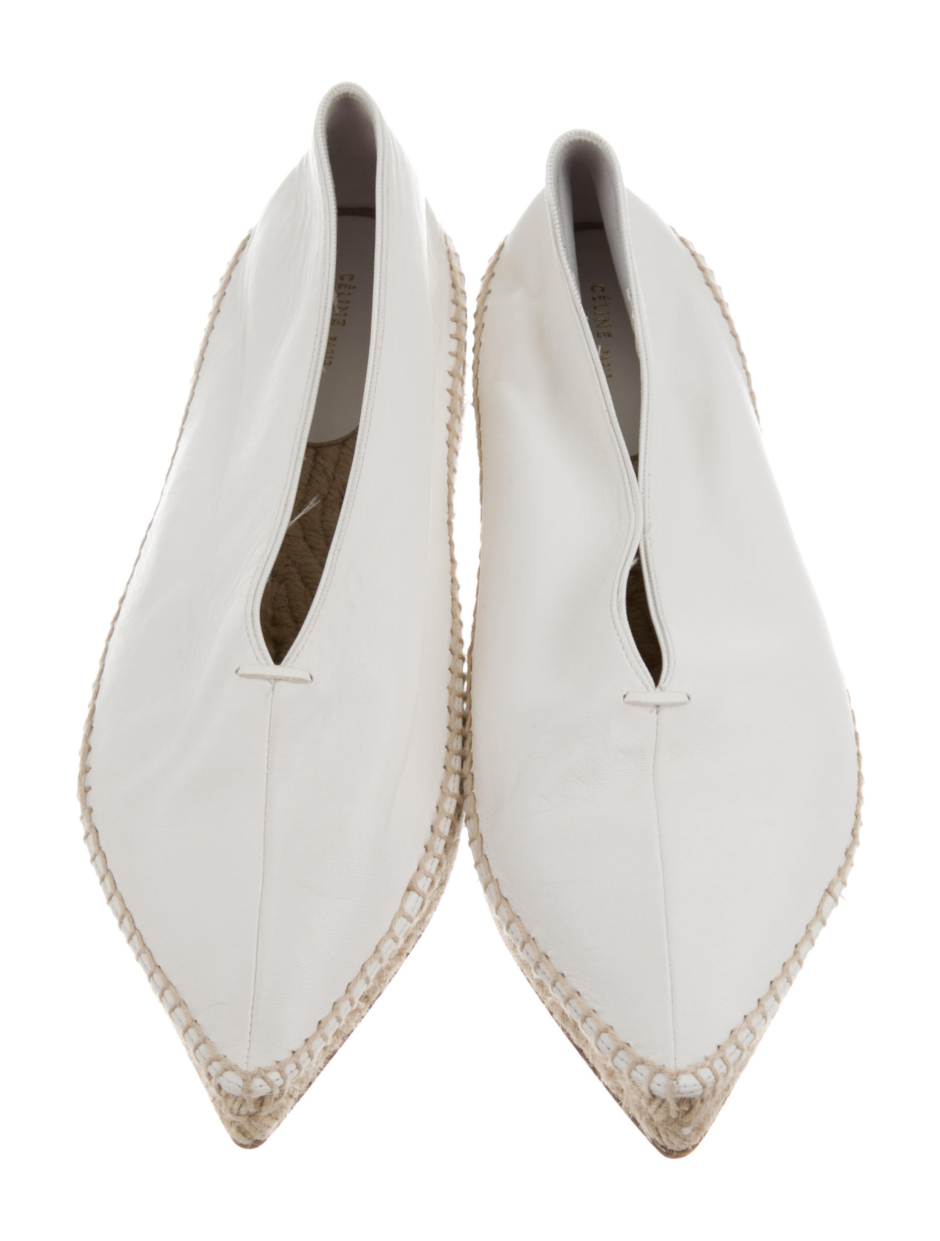 Céline 2017 Babouche Leather Espadrilles w/ Tags cheap outlet online cheap price free shipping pre order I3xUYtYjK