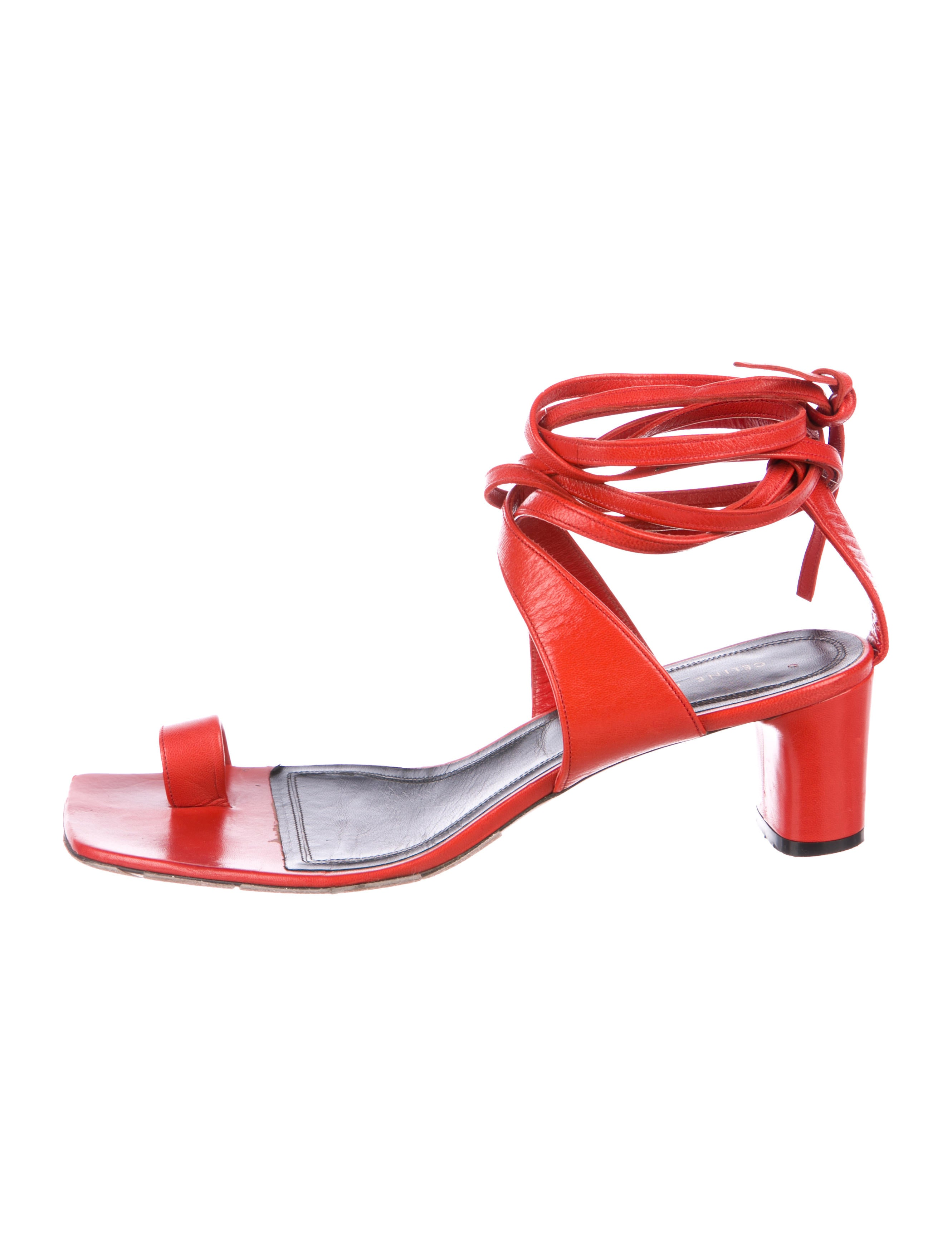 Leather Wrap-Around Sandals - Shoes