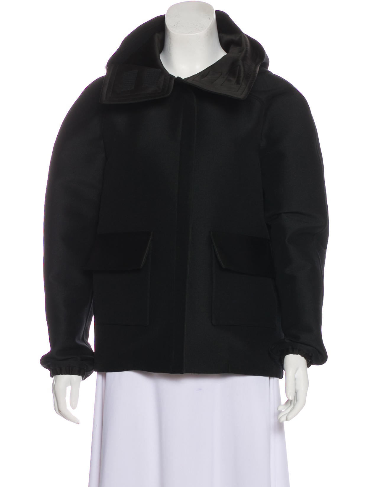 Wool Blend Hooded Jacket by Céline
