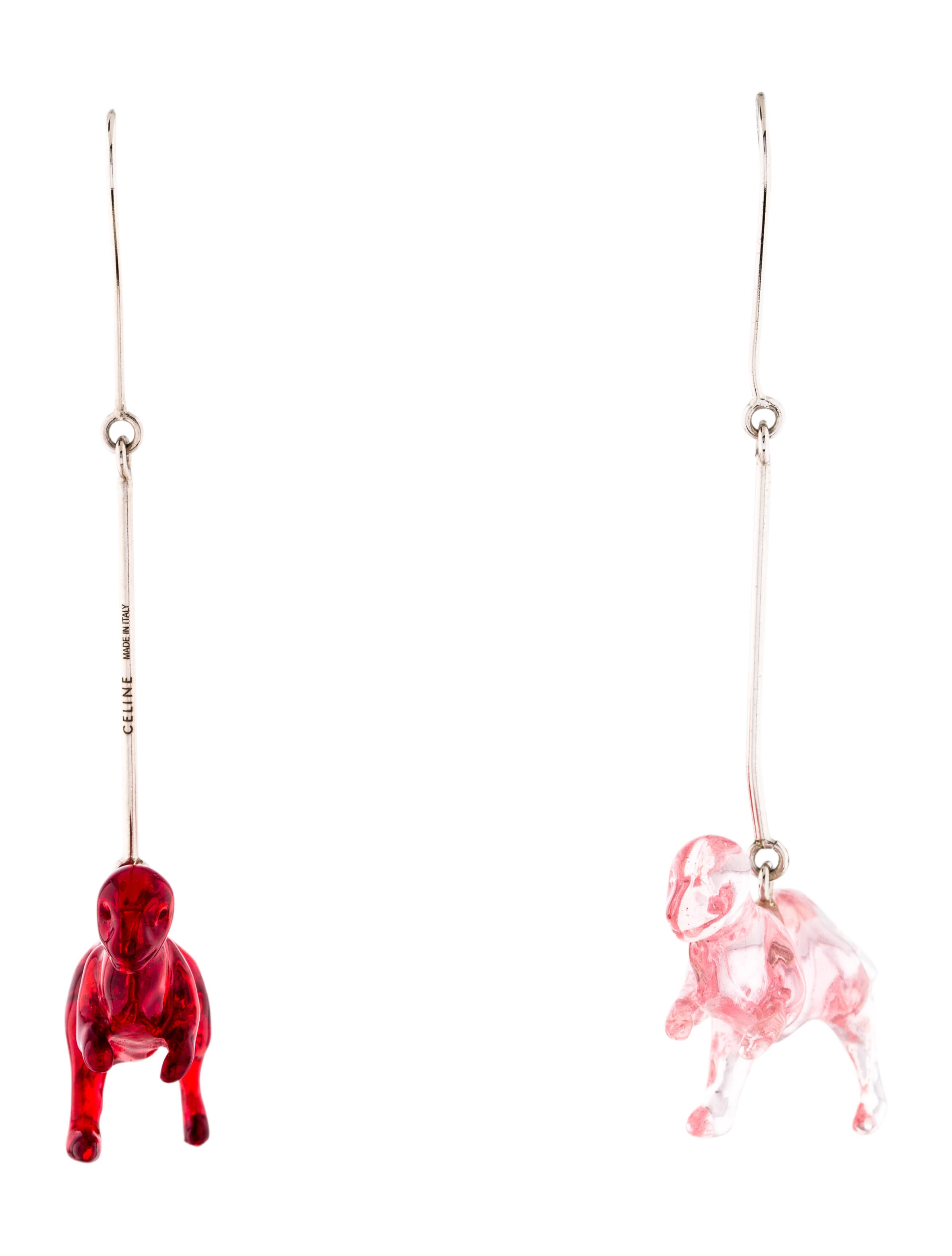 68186cf5fdc Celine Céline Dinosaur Resin Drop Earrings - Earrings - CEL77548 ...