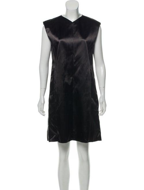 Céline Satin Mini Dress Black