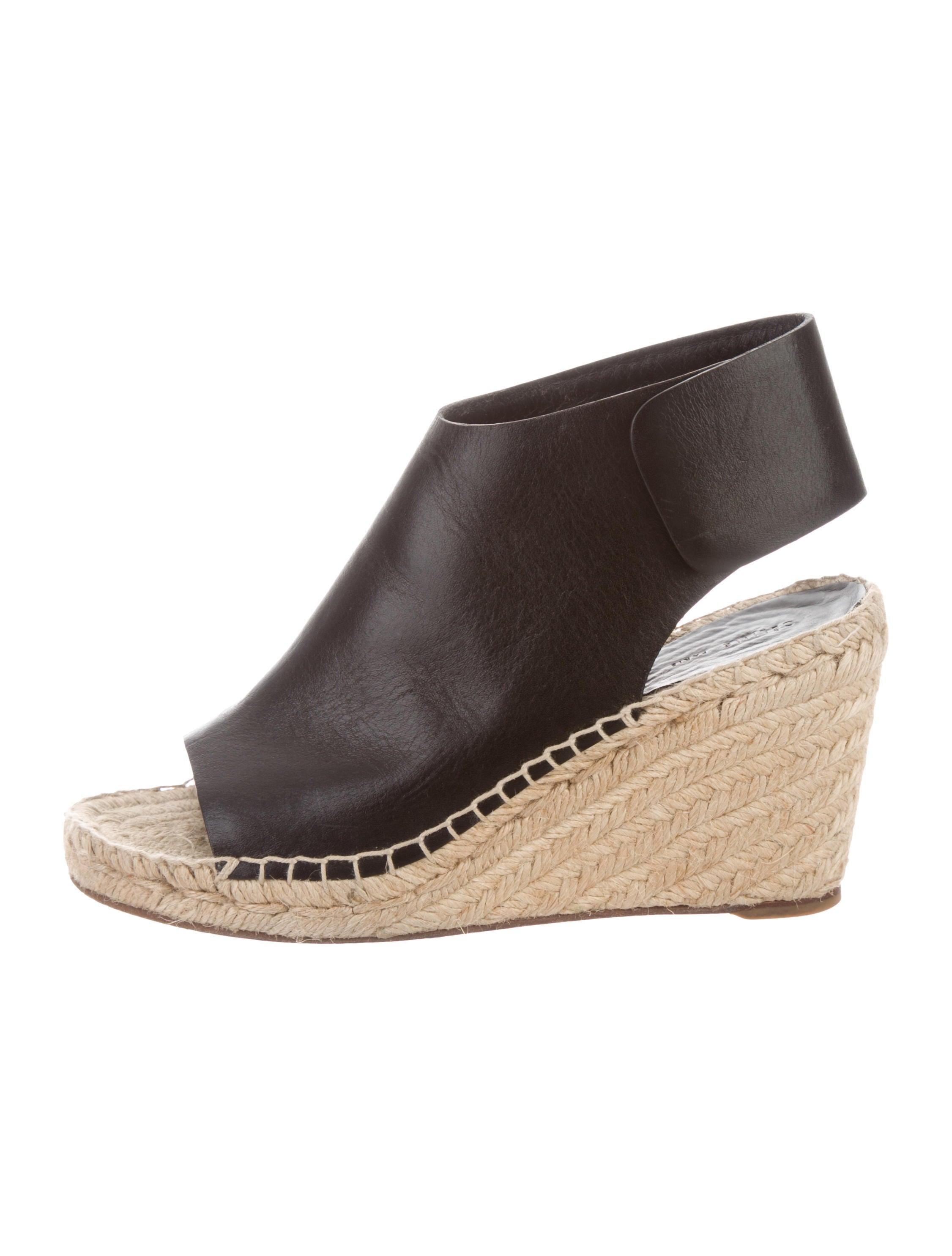 0c34f53e13c Celine Céline Leather Espadrille Wedges - Shoes - CEL79272