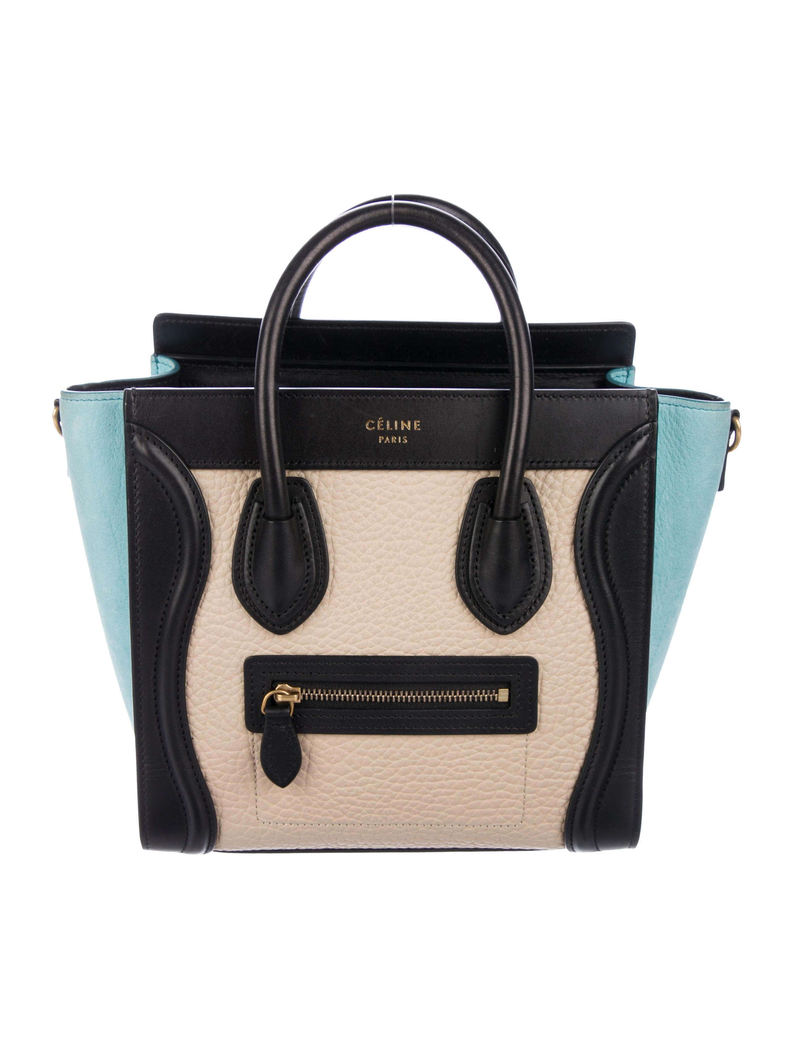 7b41ae71ffa55 Celine Céline Tricolor Micro Luggage Tote - Handbags - CEL80579 ...