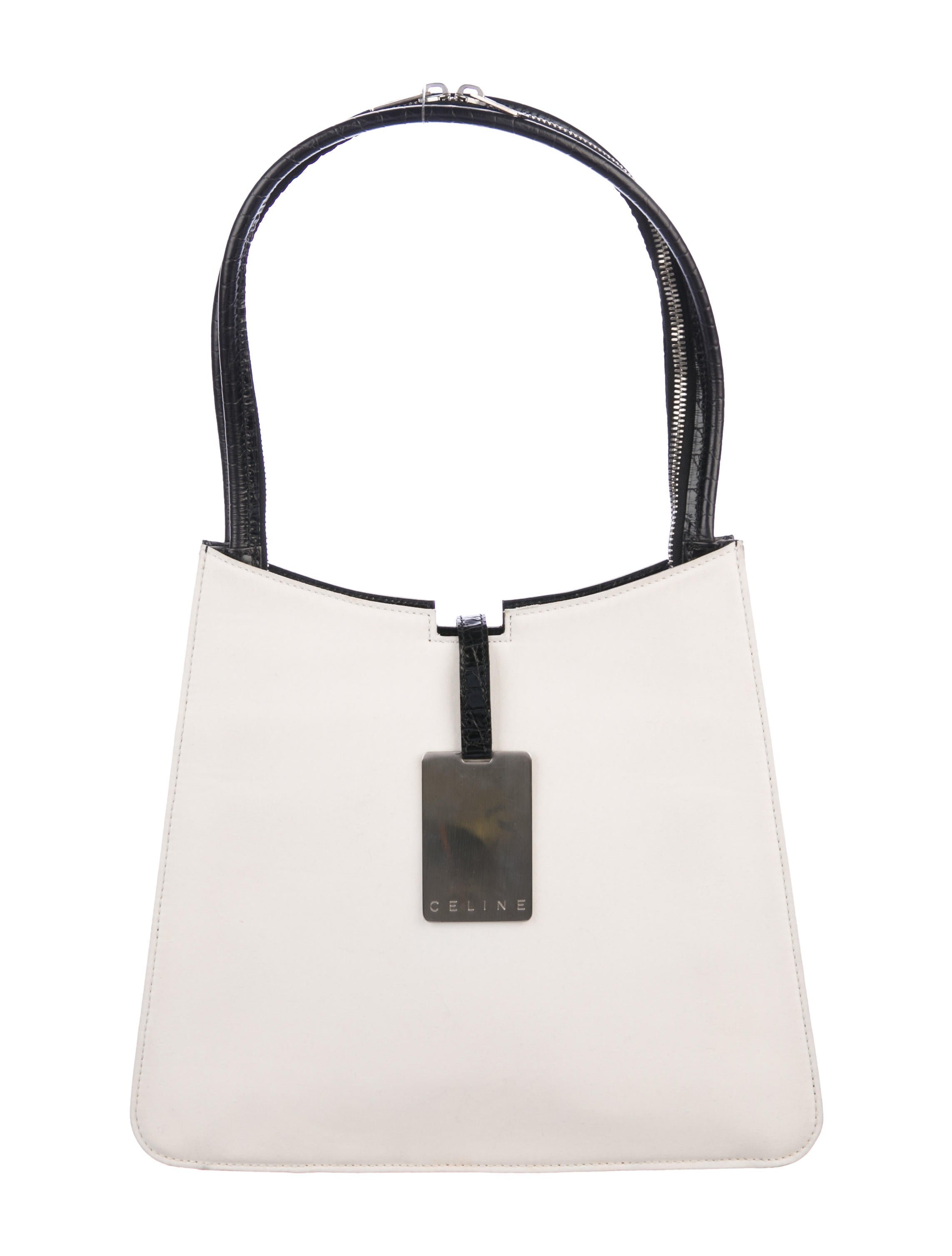 40e045e87da9 Celine Vintage Canvas Shoulder Bag - Handbags - CEL84131