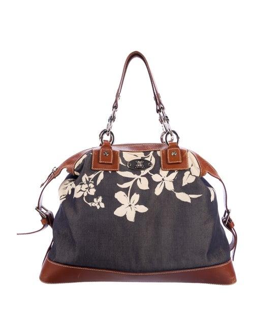 Celine Leather-Trimmed Handle Bag - Handbags - CEL85513  de2773e7f8e61