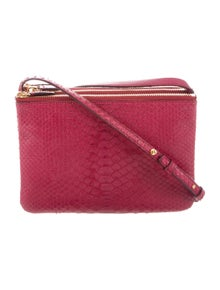 e0723d48e8 Celine. Python Small Trio Crossbody Bag