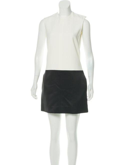 Céline Two-Tone Sleeveless Dress White