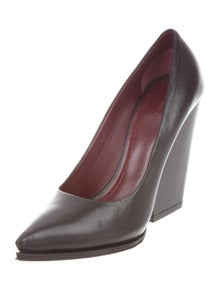 8f093373057 Celine. Leather Pointed-Toe Pumps