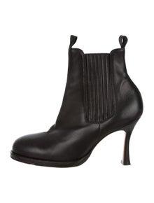8c203b806e Celine. Leather Round-Toe Boots. Size: US ...