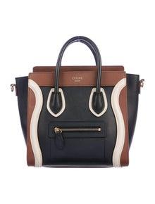 eb169dcb8 Celine. Tricolor Nano Luggage Tote