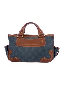 55a2caa4d Celine. Leather-Trimmed Handle Bag