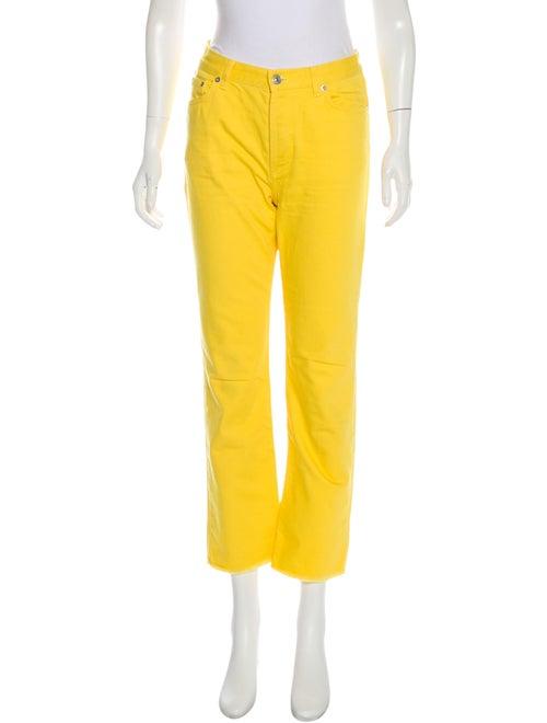 Celine High-Rise Straight-Leg Jeans Yellow