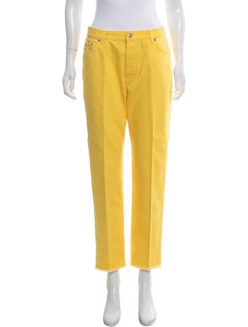 Celine Mid-Rise Straight-Leg Jeans Yellow