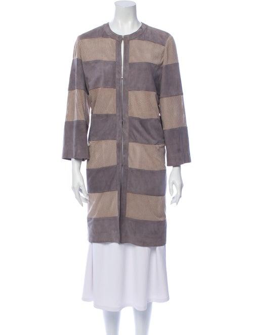 Davide Cenci Striped Coat Grey - image 1